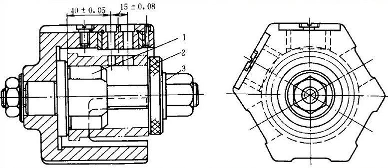 Struktur der Bohrlehre Turn Drill Jig