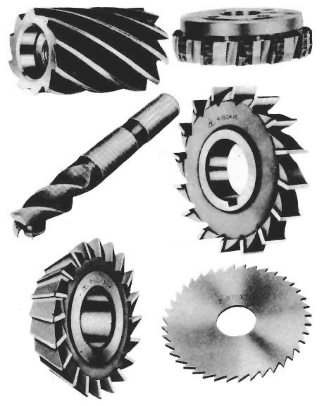 Types of a milling cutter use end mill grinder and universal tool grinding machine to repair.
