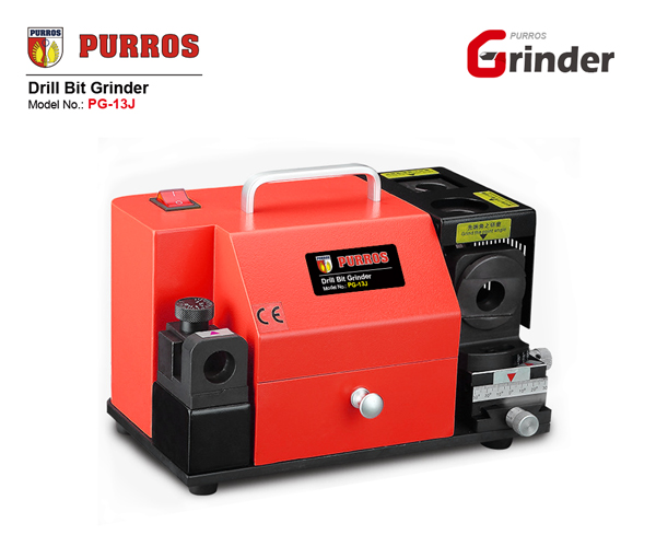 PURROS PG-13J Rectificadora de brocas portátil, amoladora de taladro escalonada, fabricante de sacapuntas automático de brocas